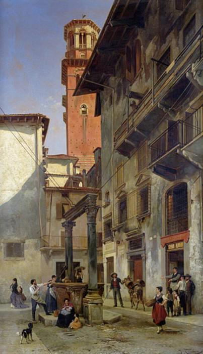 Via Mazzanti, Verona. Jacques François Carabain