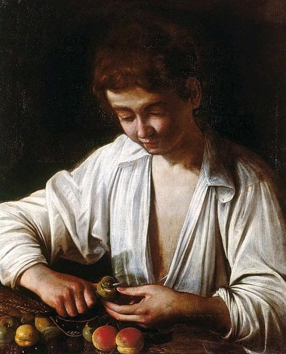 A boy peeling fruit. Michelangelo Merisi da Caravaggio