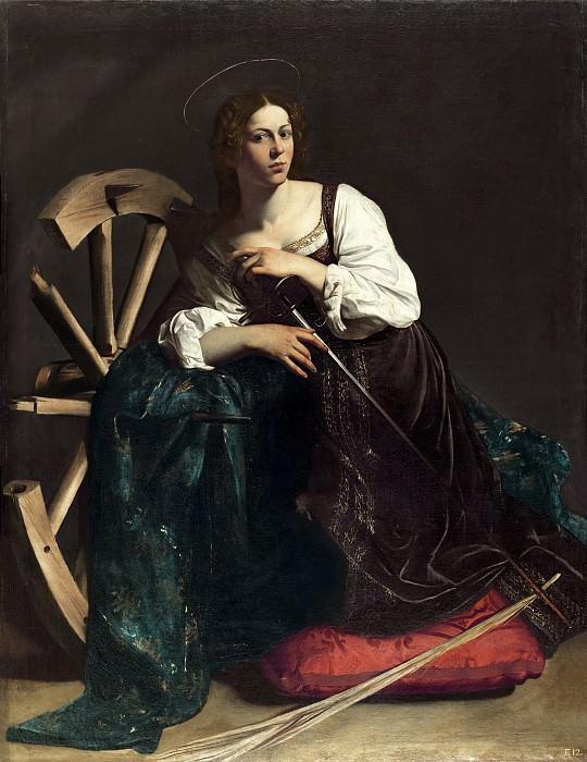 Saint Catherine of Alexandria. Michelangelo Merisi da Caravaggio