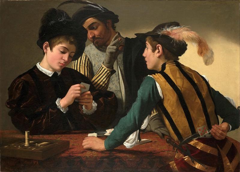 Cardsharps. Michelangelo Merisi da Caravaggio
