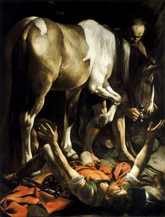 Conversion of Saint Paul on the Road to Damascus. Michelangelo Merisi da Caravaggio