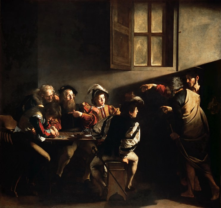 Calling of Saint Matthew. Michelangelo Merisi da Caravaggio