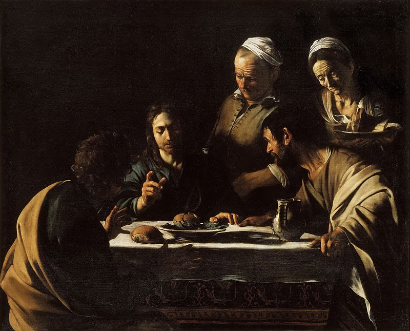 Supper at Emmaus. Michelangelo Merisi da Caravaggio