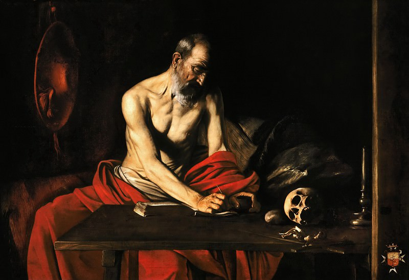 Saint Jerome Writing. Michelangelo Merisi da Caravaggio