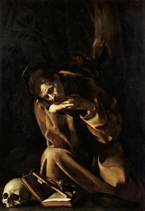 Saint Francis in Meditation. Michelangelo Merisi da Caravaggio