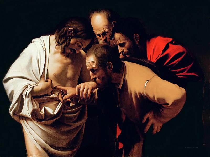 Incredulity of Saint Thomas. Michelangelo Merisi da Caravaggio