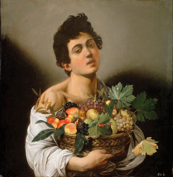 Boy with a Basket of Fruit. Michelangelo Merisi da Caravaggio