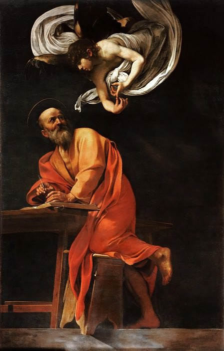 Saint Matthew and the Angel. Michelangelo Merisi da Caravaggio