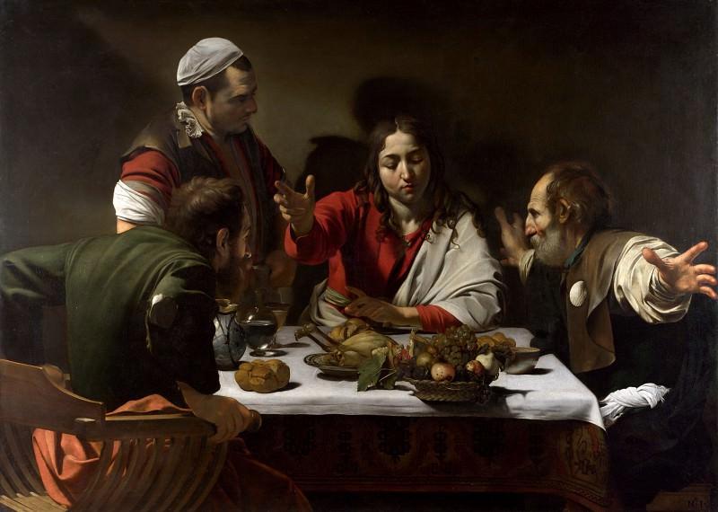 Ужин в Эммаусе. Микеланджело Меризи да Караваджо