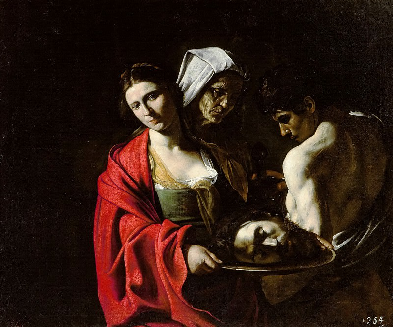 Salome with the Head of John the Baptist. Michelangelo Merisi da Caravaggio
