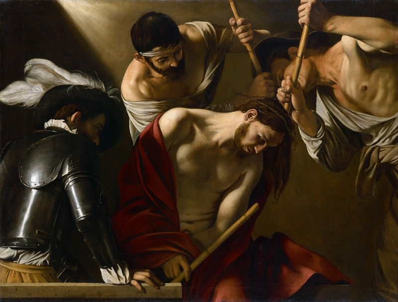 Crowning with Thorns. Michelangelo Merisi da Caravaggio