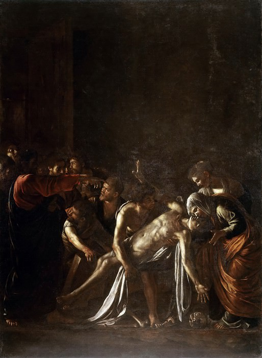 Raising of Lazarus. Michelangelo Merisi da Caravaggio