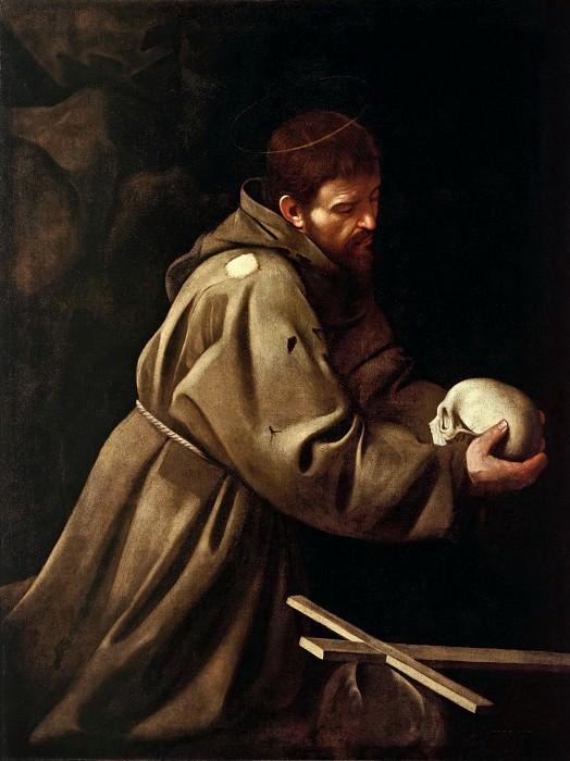 Saint Francis in Prayer. Michelangelo Merisi da Caravaggio