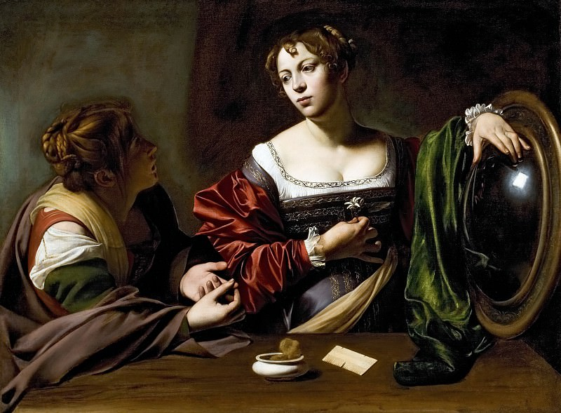 Martha and Mary Magdalene. Michelangelo Merisi da Caravaggio