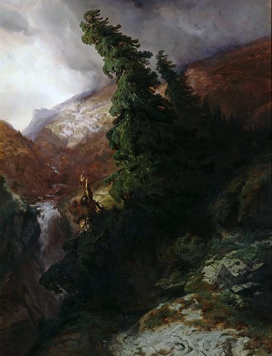 Горное ущелье в долине Хандег, кантон Берн. Александр Калам