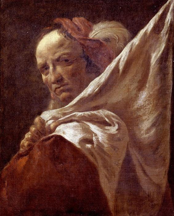 Портрет мужчины с флагом. Франческо Капелла