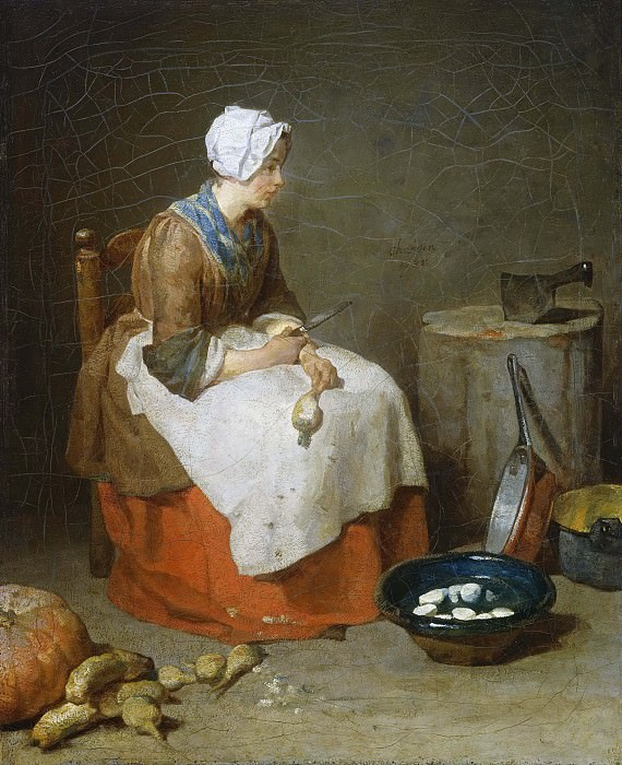 The Kitchen Maid. Jean Baptiste Siméon Chardin