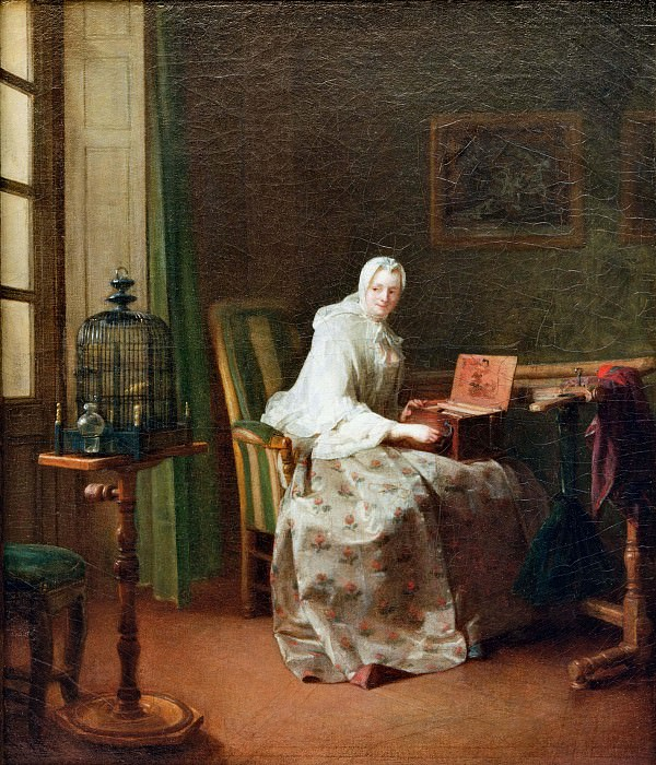La serinette. Jean Baptiste Siméon Chardin