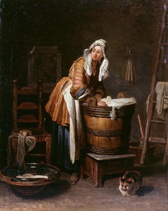 Washerwoman. Jean Baptiste Siméon Chardin
