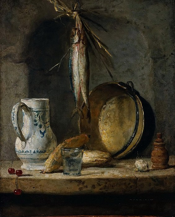 Still Life with Herrings. Jean Baptiste Siméon Chardin