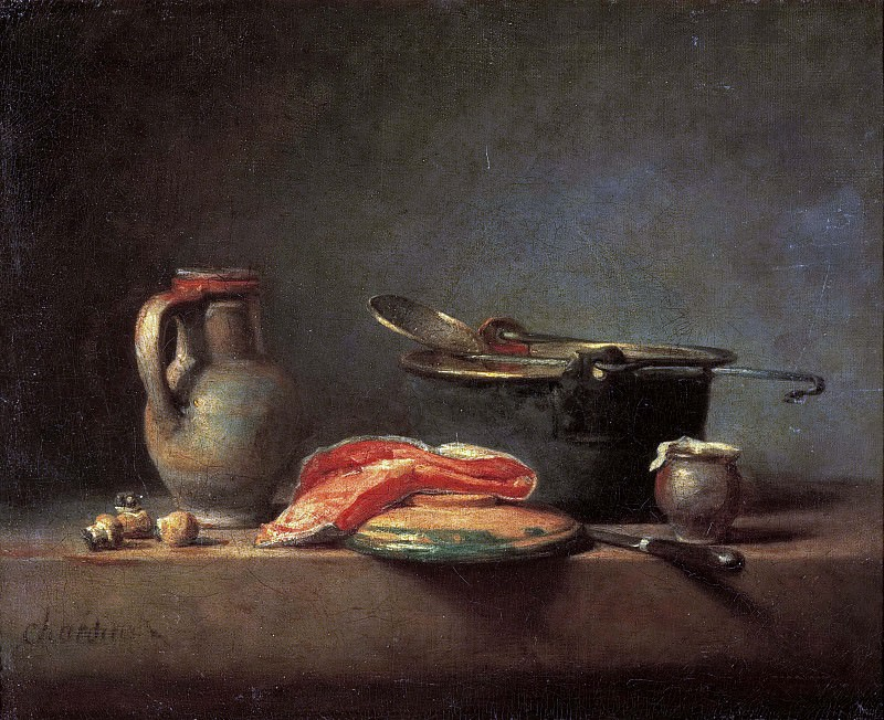 The copper cauldron. Jean Baptiste Siméon Chardin