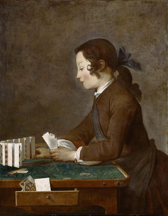 Young Boy Playing Cards. Jean Baptiste Siméon Chardin