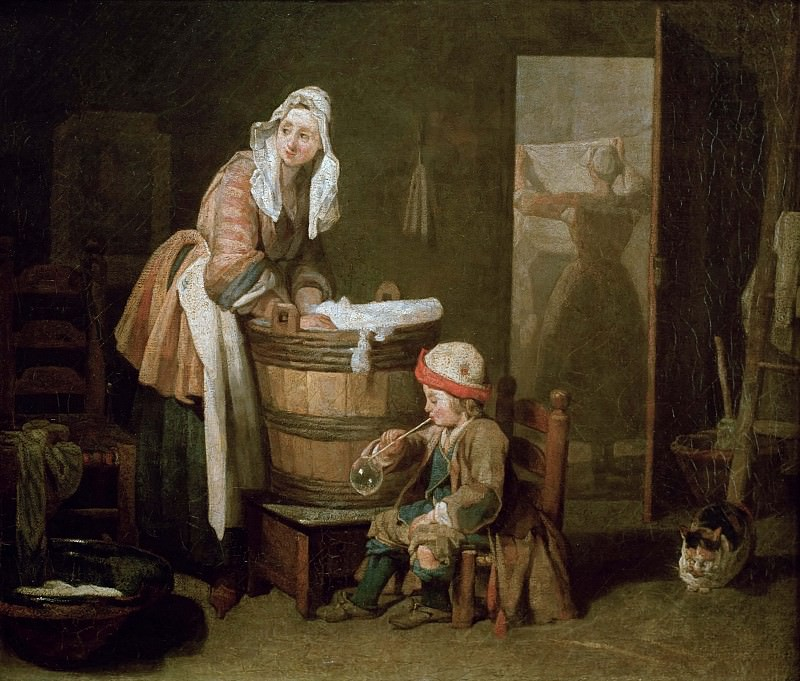 The Laundress. Jean Baptiste Siméon Chardin