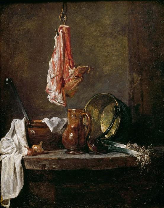 Натюрморт с куском мяса. Жан-Батист Симеон Шарден