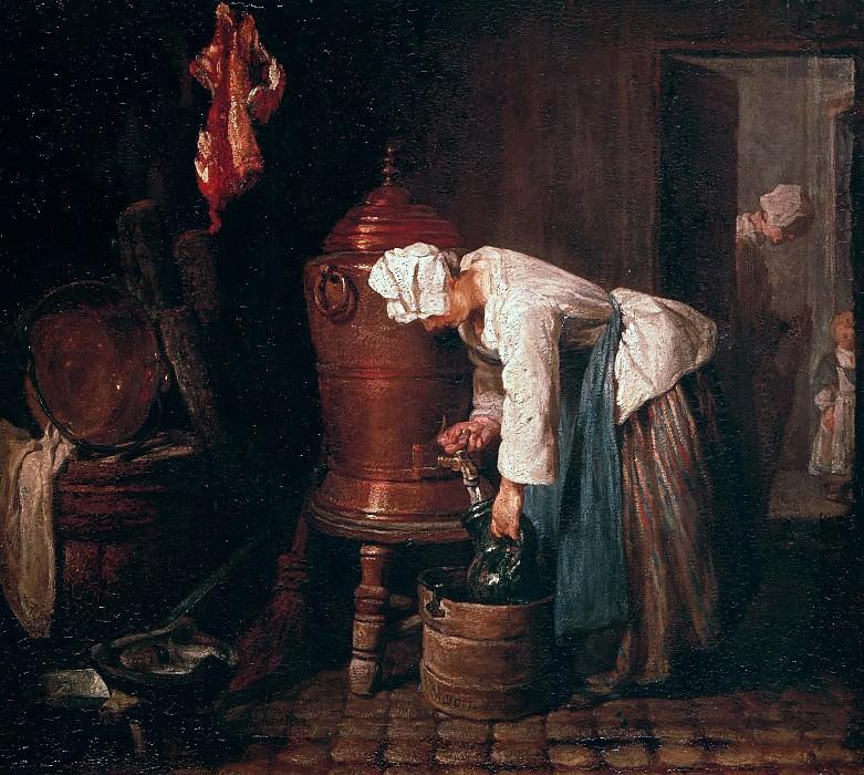 Woman drawing water from an urn. Jean Baptiste Siméon Chardin