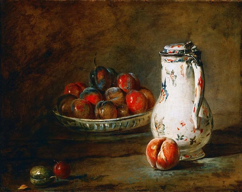 Тарелка со сливами. Жан-Батист Симеон Шарден