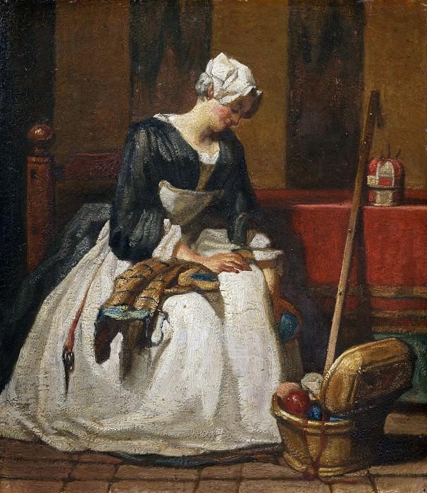 The Embroiderer. Jean Baptiste Siméon Chardin