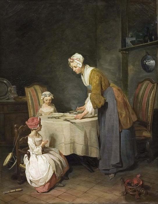 Saying Grace. Jean Baptiste Siméon Chardin