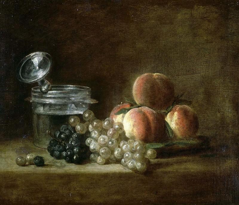 Персики и виноград. Жан-Батист Симеон Шарден