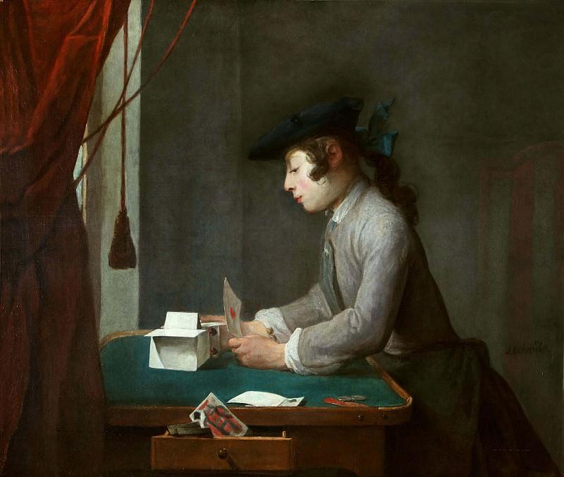 Boy Building a House of Cards. Jean Baptiste Siméon Chardin