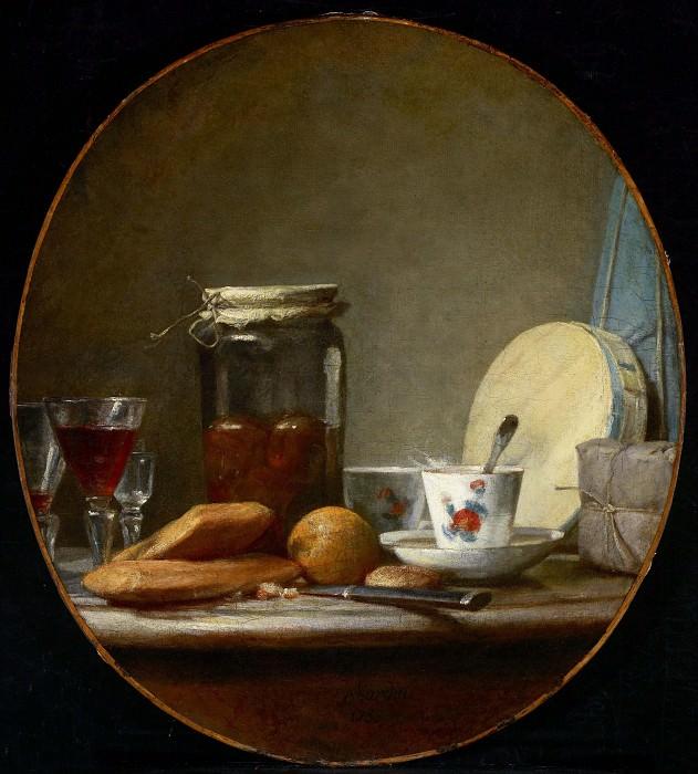 Банка с абрикосами. Жан-Батист Симеон Шарден