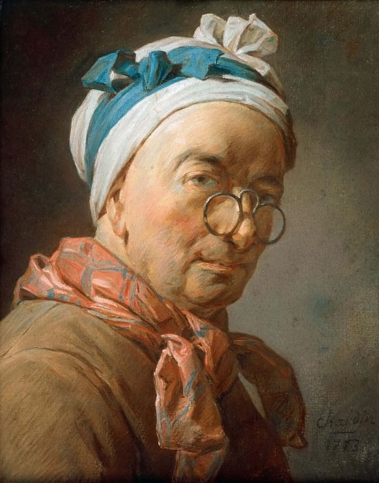 Self Portrait. Jean Baptiste Siméon Chardin