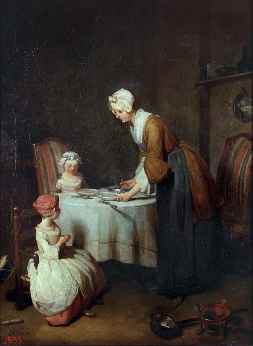 Молитва перед обедом. Жан-Батист Симеон Шарден