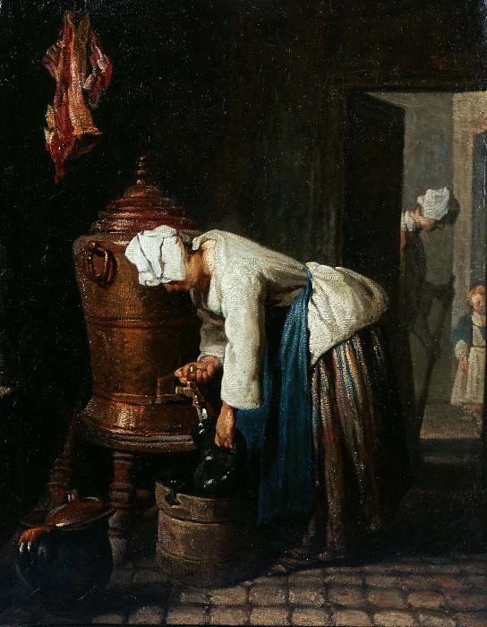 Woman Drawing Water at the Cistern. Jean Baptiste Siméon Chardin