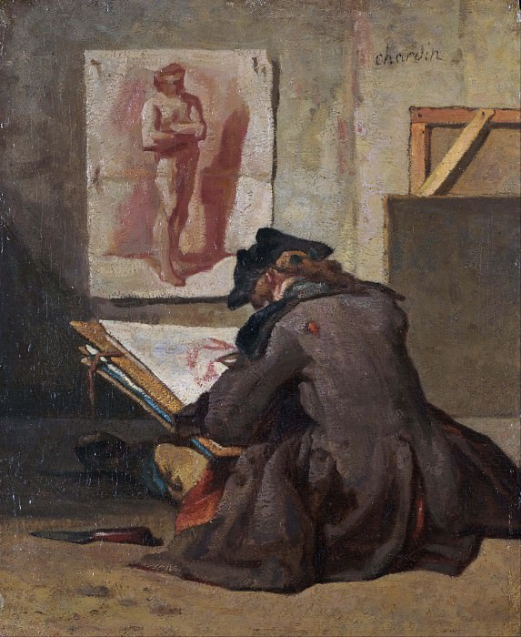 Молодой студент за рисованием. Жан-Батист Симеон Шарден