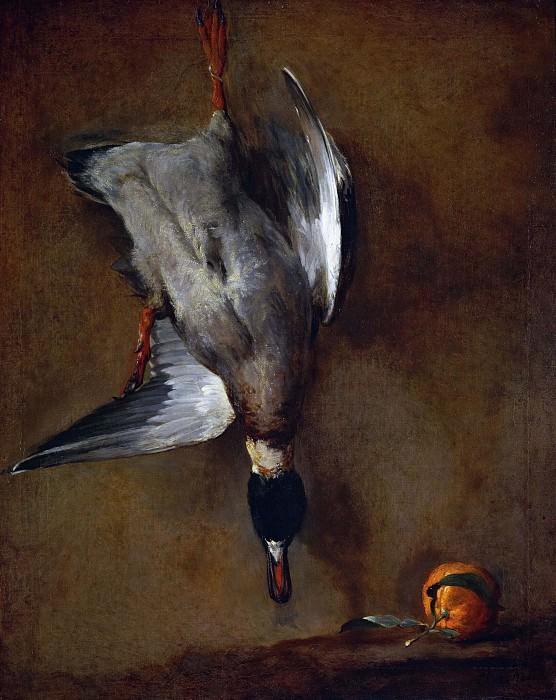 Утка и апельсин. Жан-Батист Симеон Шарден