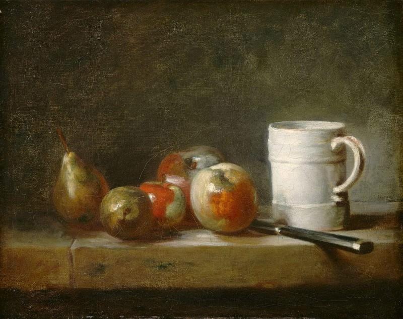 Still Life with a White Mug. Jean Baptiste Siméon Chardin
