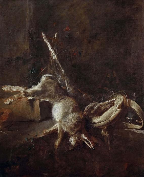 Два зайца, ягдташ и пороховница. Жан-Батист Симеон Шарден