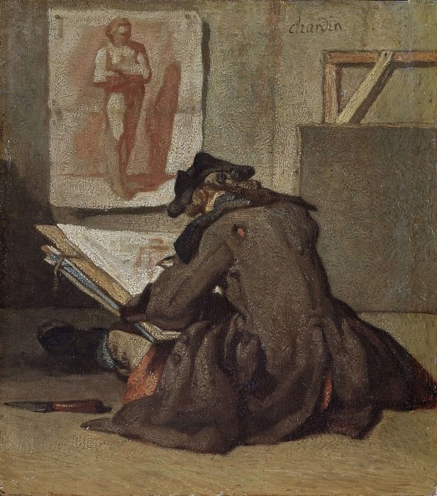 Молодой студенческий рисунок. Жан-Батист Симеон Шарден