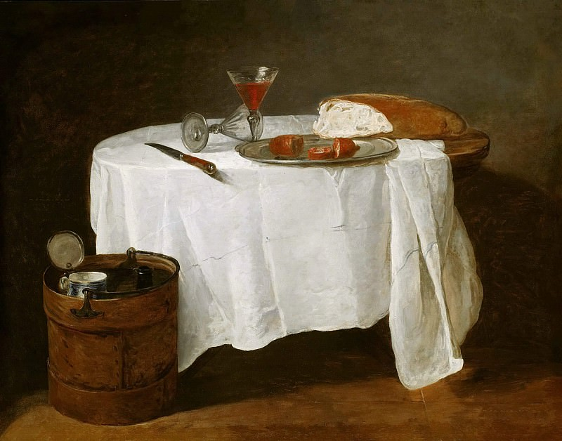 The White Tablecloth. Jean Baptiste Siméon Chardin