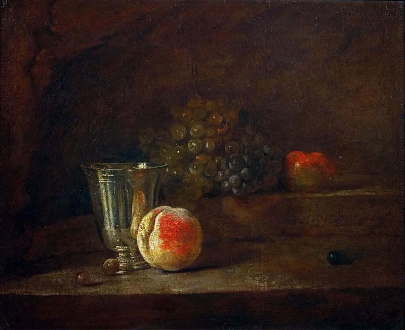 Серебряный кубок и виноград. Жан-Батист Симеон Шарден