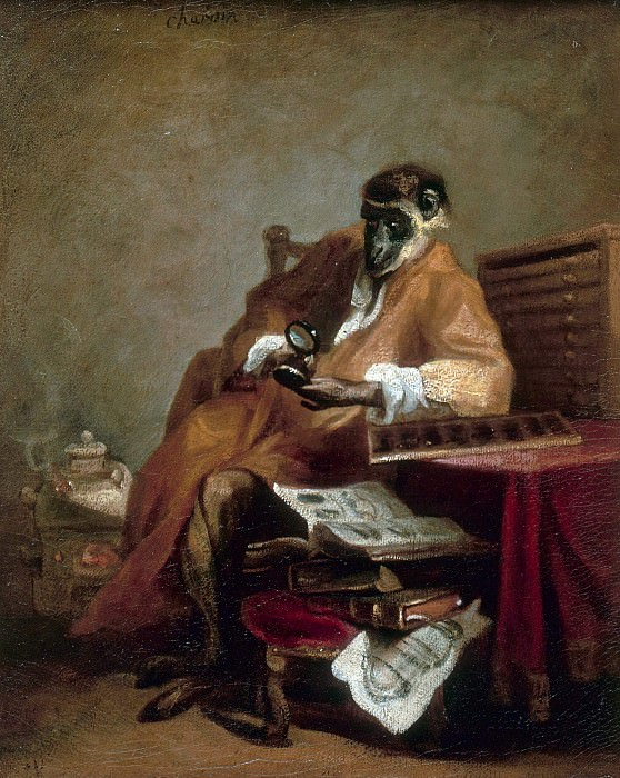 Monkey Antiquarian. Jean Baptiste Siméon Chardin