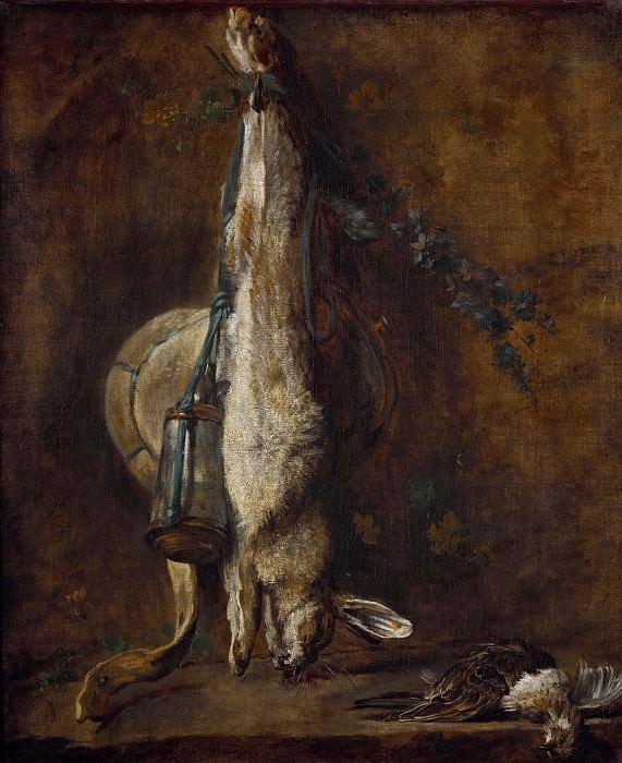 Заяц, ягдташ, пороховница, дрозд и жаворонок. Жан-Батист Симеон Шарден