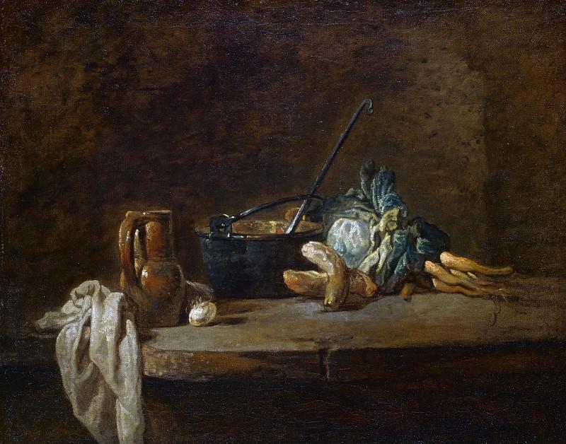 Овощи для супа. Жан-Батист Симеон Шарден