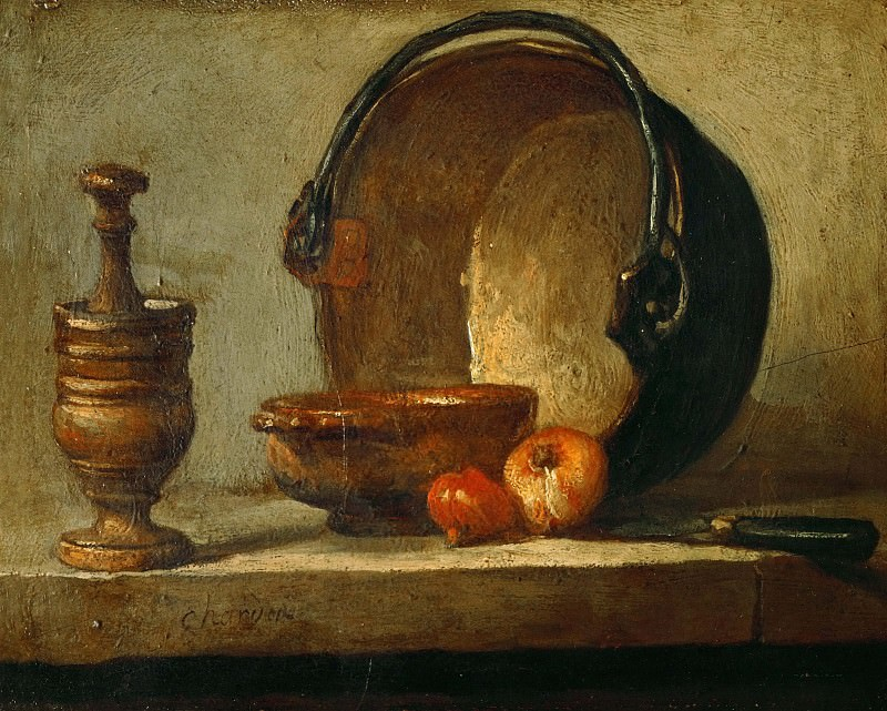 The copper cauldron. Jean Baptiste Siméon Chardin