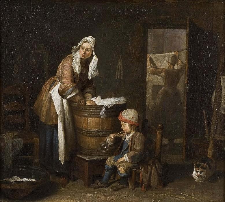 The Washerwoman. Jean Baptiste Siméon Chardin